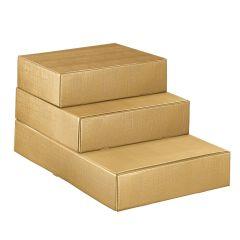 Presentlåda för flaskor linnepräglat guld