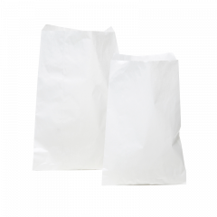 Plan papperspåse vit