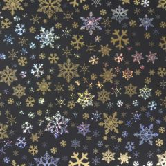Presentpapper Black golden stars
