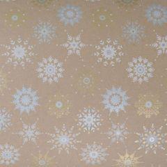Presentpapper Crystal snowflakes