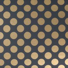Presentpapper Black golden dots