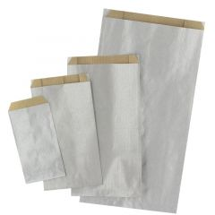 Plan papperspåse silver