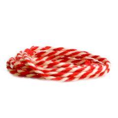 Textilgarn 2-färg röd/vit
