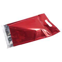 Metallic Röd E-handelspåse med handtag